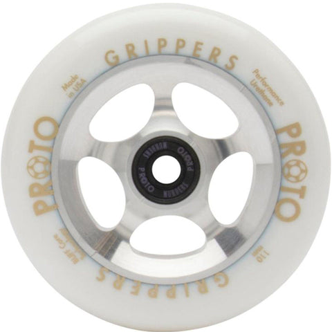 Proto Grippers Pro Stunt Scooter Wheels 110mm - White