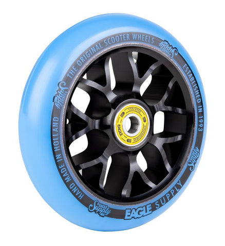 Eagle Supply 110mm Pro Stunt Scooter Wheel, Standard X6 Core - Black/Blue