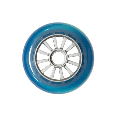 Yak Scooters Low Profile Spoked 100MM Scooter Wheel Clear Blue/silver