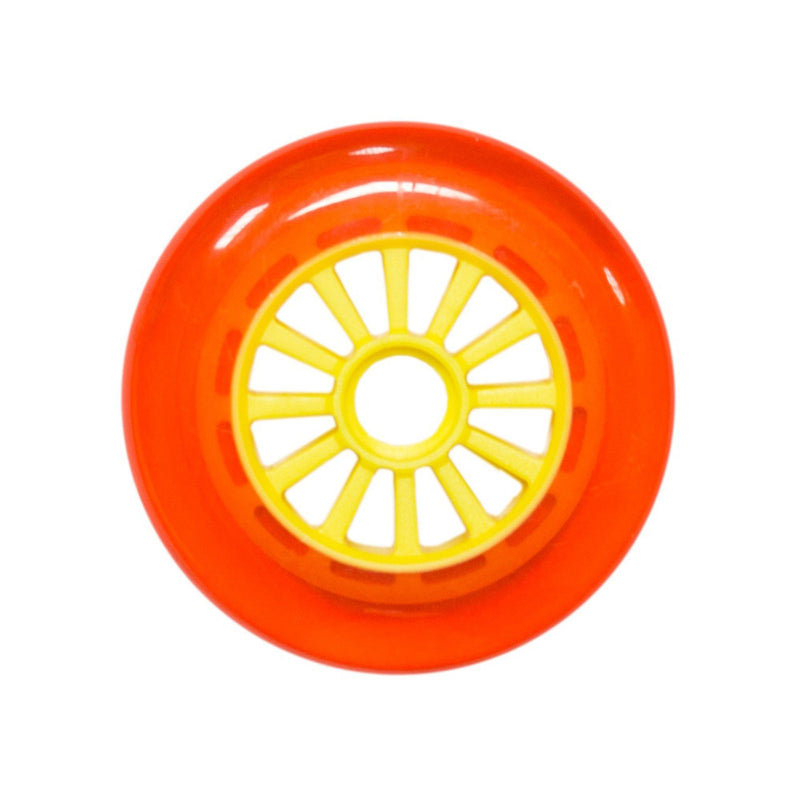 Yak Scooters Low Profile Spoked 110 MM scooter wheel Orange/Yellow Scooter Wheels yak
