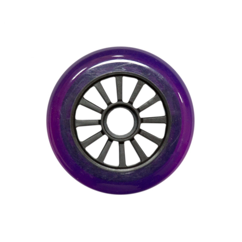 Yak Scooters Low Profile Spoked 100MM Scooter Wheel Clear Black/Purple Scooter Wheels Rampworx Shop