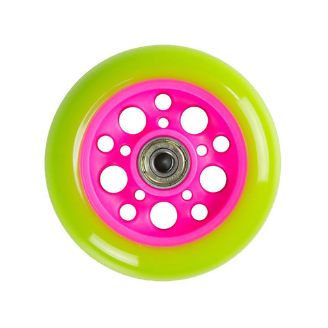 Zycom 100mm Scooter wheel - Green/Pink