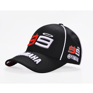 IGGY 2017 New Moto Gp 99 Jorge Lorenzo YAMAHA Hats Cotton Motorcycle Racing Baseball Caps Snapback Sun Hats Cap For Men