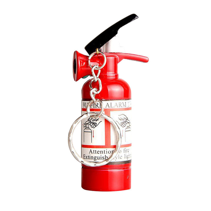 Mini Fire Extinguisher Shaped Butane Jet Lighter For Cigar Cigarette With LED Flashlight Refillable NO GAS