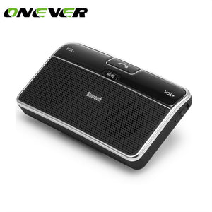 Onever Wireless Car Bluetooth Speakerphone Hands-free Car Kit Sunvisor In-Car Speaker Player with Car charger