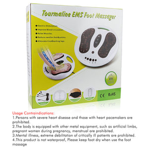 Feet Care EMS Electrical Muscle Stimulation Therapy Physical Infrared Reflexology Tourmaline Foot Massager Circulation Booster
