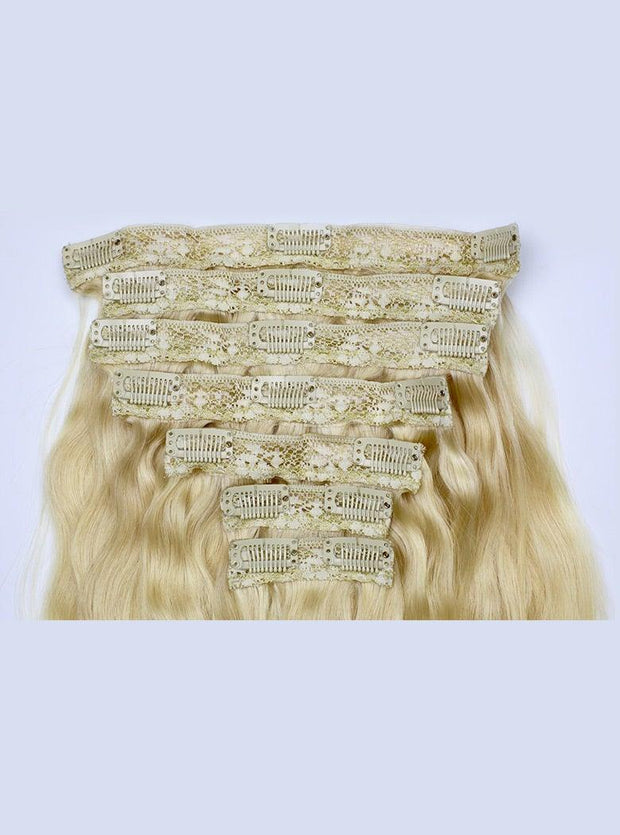 Blonde Clip In Extensions Image