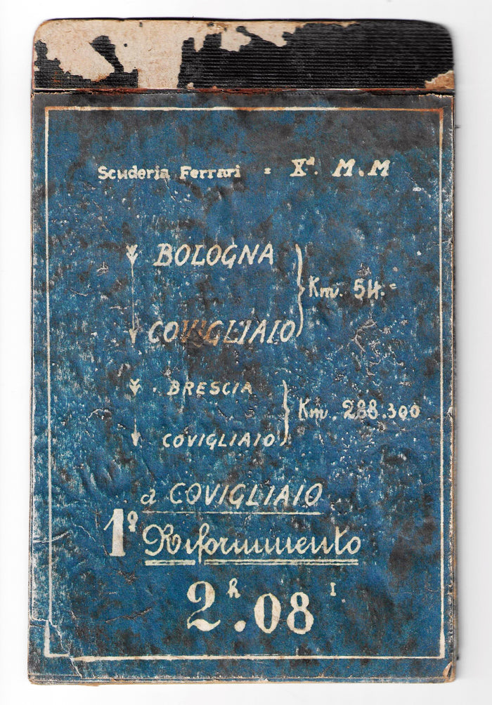 Original Roadbook der Scuderia Ferrari 1936