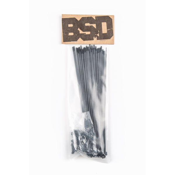 BSD High Quality Speichen / Spokes Black