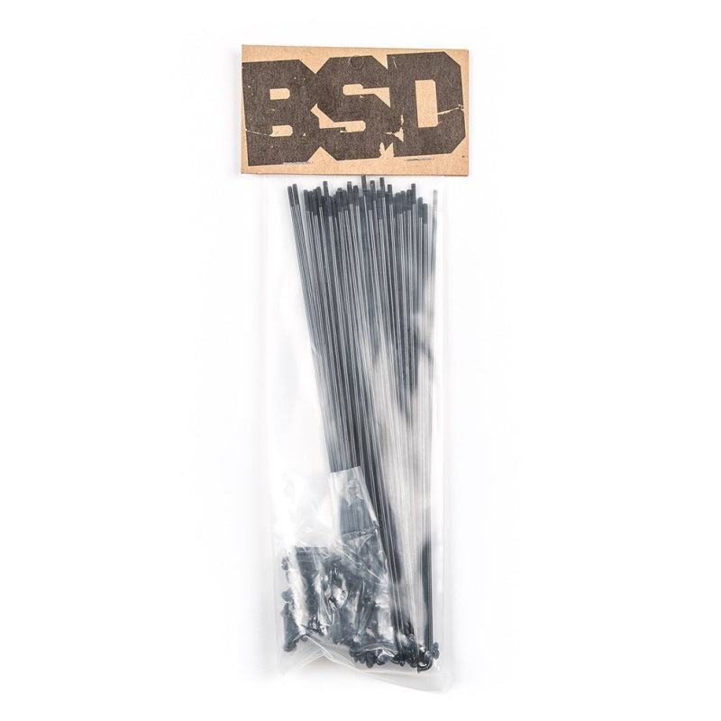 BSD Butted Speichen / Spokes Black
