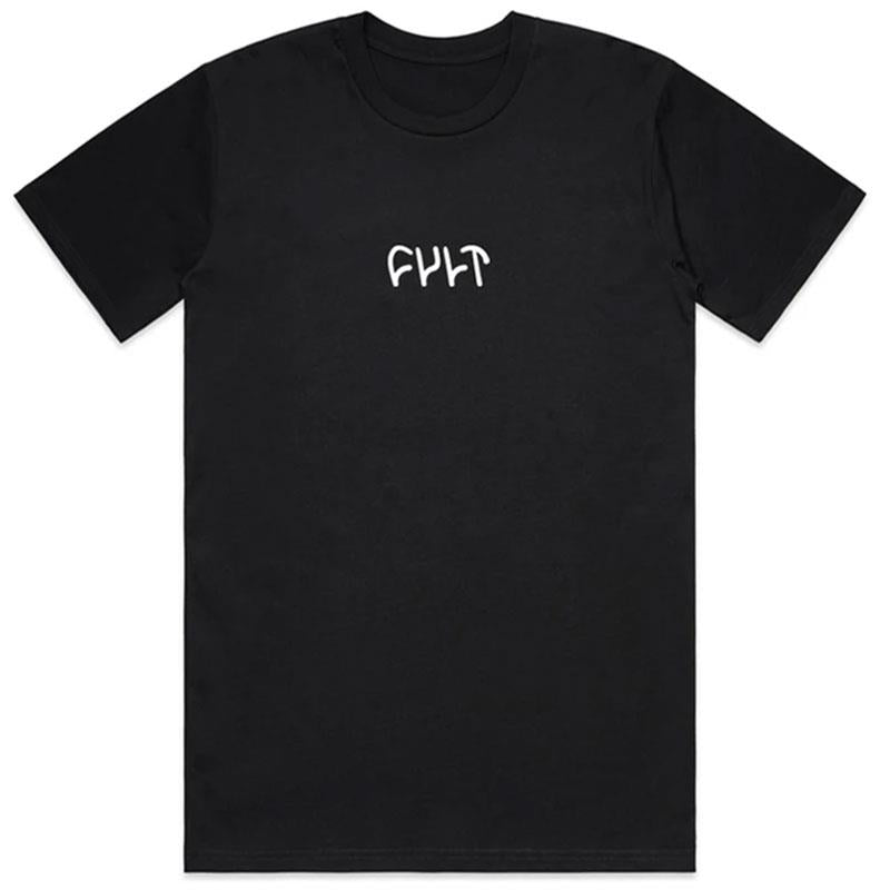 Cult Embroidered T-shirt Black