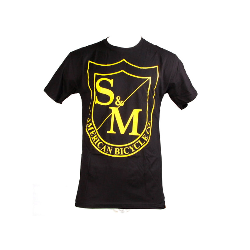 S&M Bikes Big Shield Yellow T-Shirt