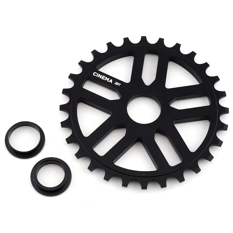 Cinema Rewind Kettenblatt / Sprocket 28T Black