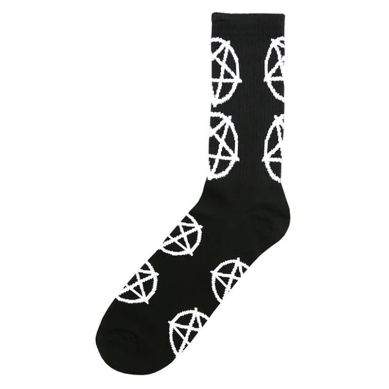 Cult Pentagram Socken Black