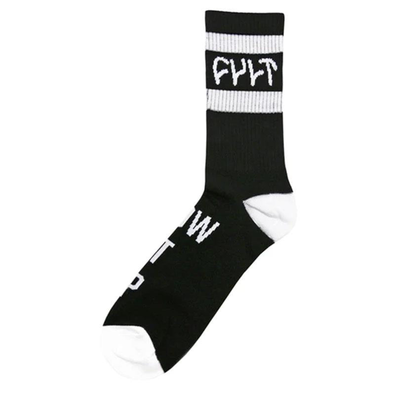Cult Burn It Down Socken Black/White