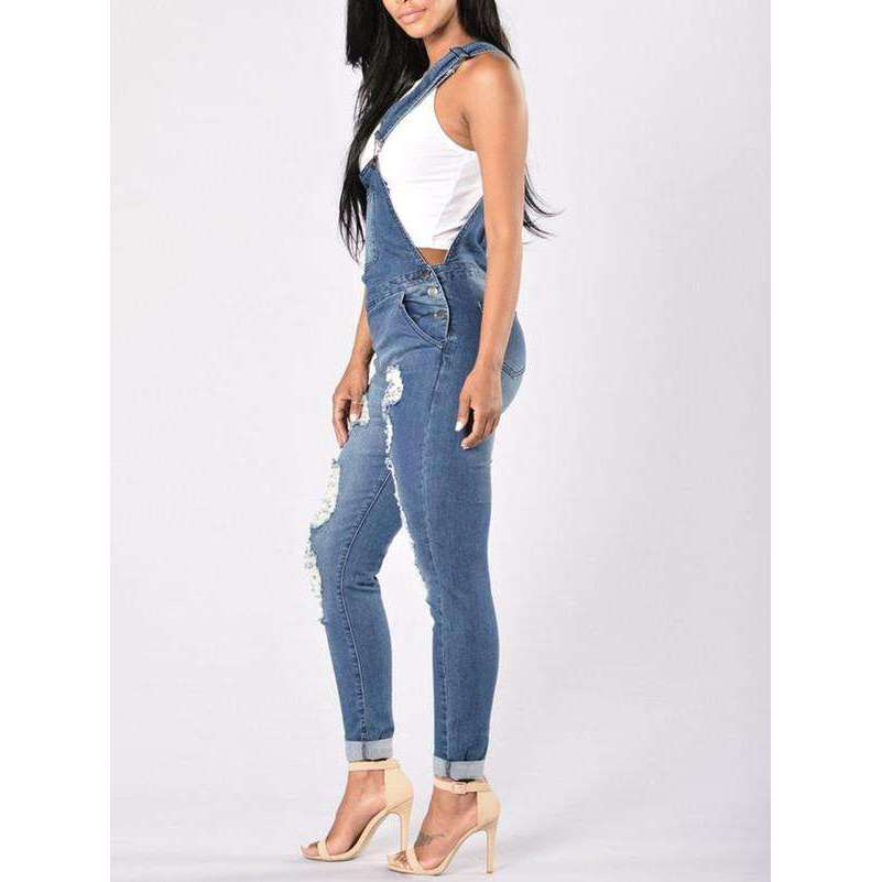 CLOCHE Denim Star Overall Dungree-CLOCHE-CLOCHE