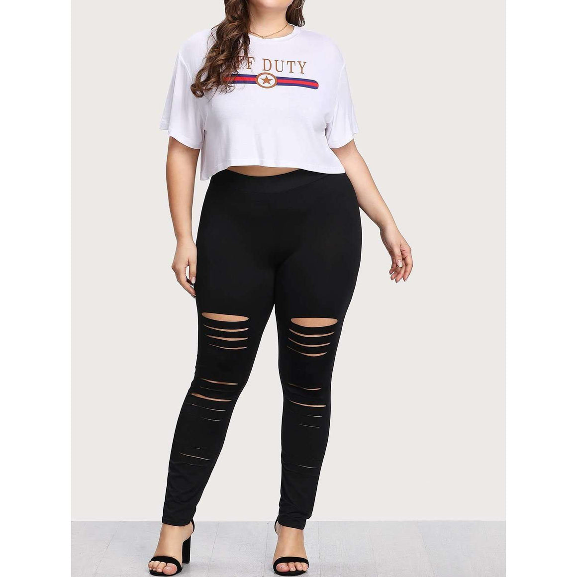 CLOCHE Ripped Soul Leggings-CLOCHE-CLOCHE