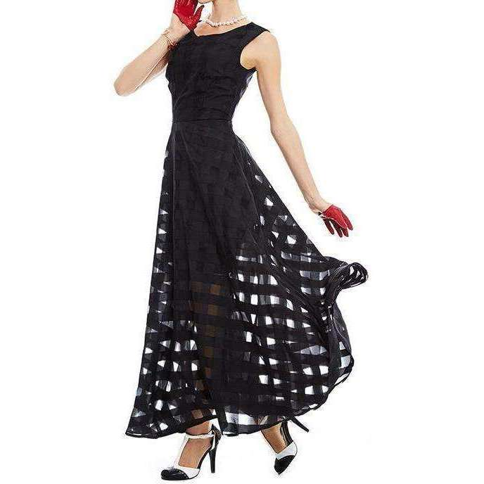 CLOCHE Dark Knights Maxi Dress-CLOCHE-CLOCHE