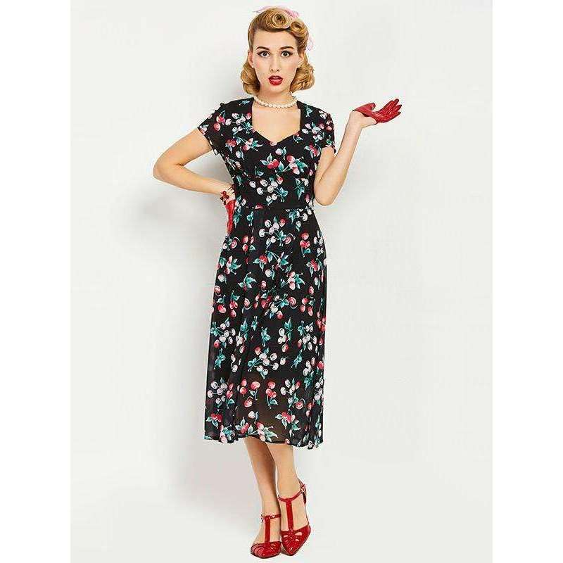 CLOCHE Chiffon Grand Floral Dress-CLOCHE-CLOCHE