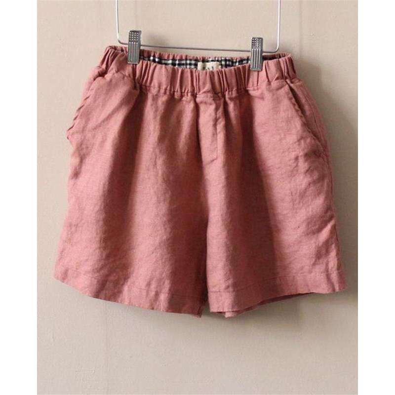 CLOCHE 5 Shades Pockets Brief Linen Shorts-CLOCHE-CLOCHE