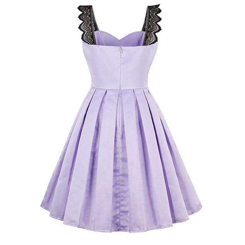 CLOCHE Clover Purple Dress-CLOCHE-CLOCHE