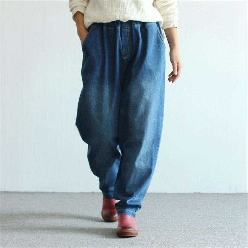 CLOCHE Wide Leg Pockets Jeans Pants-CLOCHE-ONE-CLOCHE