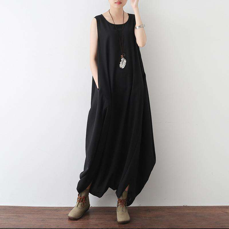 CLOCHE Chiffon O-Neck Sleeveless Wide Leg Tank Jumpsuit-CLOCHE-ONE-CLOCHE