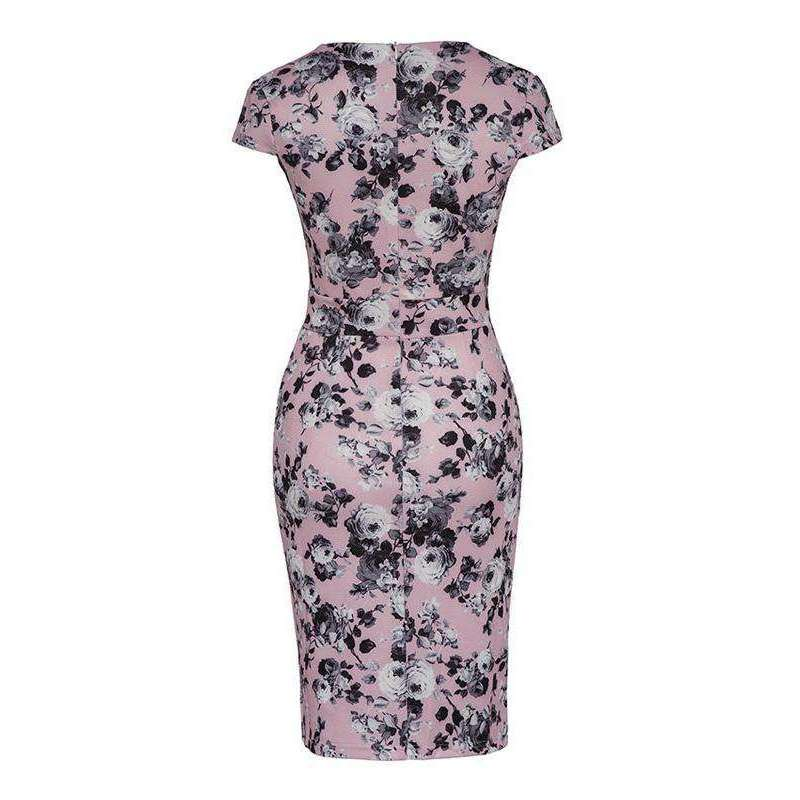 CLOCHE Bodycon Floral Cool Dress-CLOCHE-CLOCHE