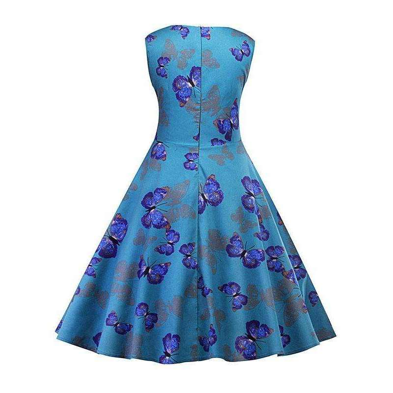 CLOCHE Butterfly Chic Sleeveless Dress-CLOCHE-CLOCHE