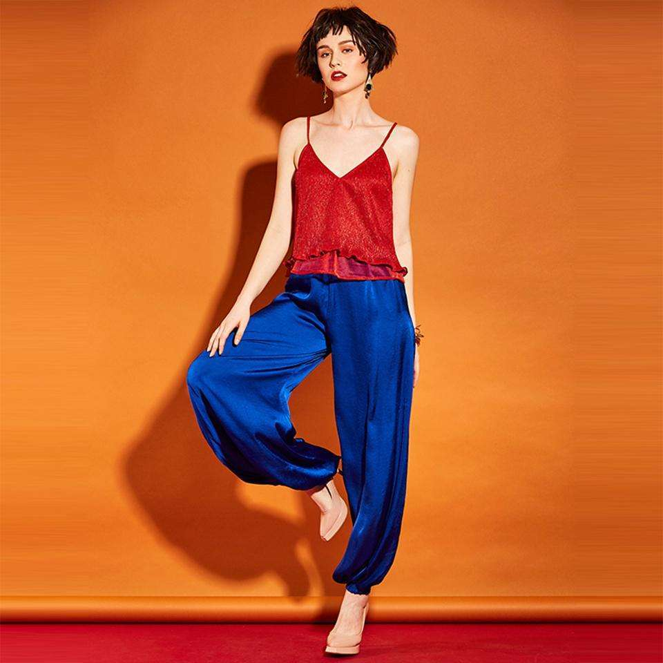 CLOCHE High Waisted Knickerbockers Royal Loose Pants-CLOCHE-CLOCHE