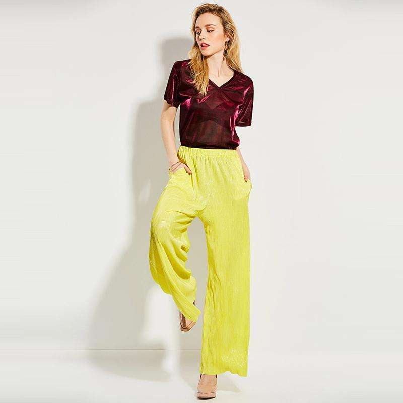 CLOCHE Mid Waisted Loose Wide Leg Long Vacation Full Pants-CLOCHE-CLOCHE