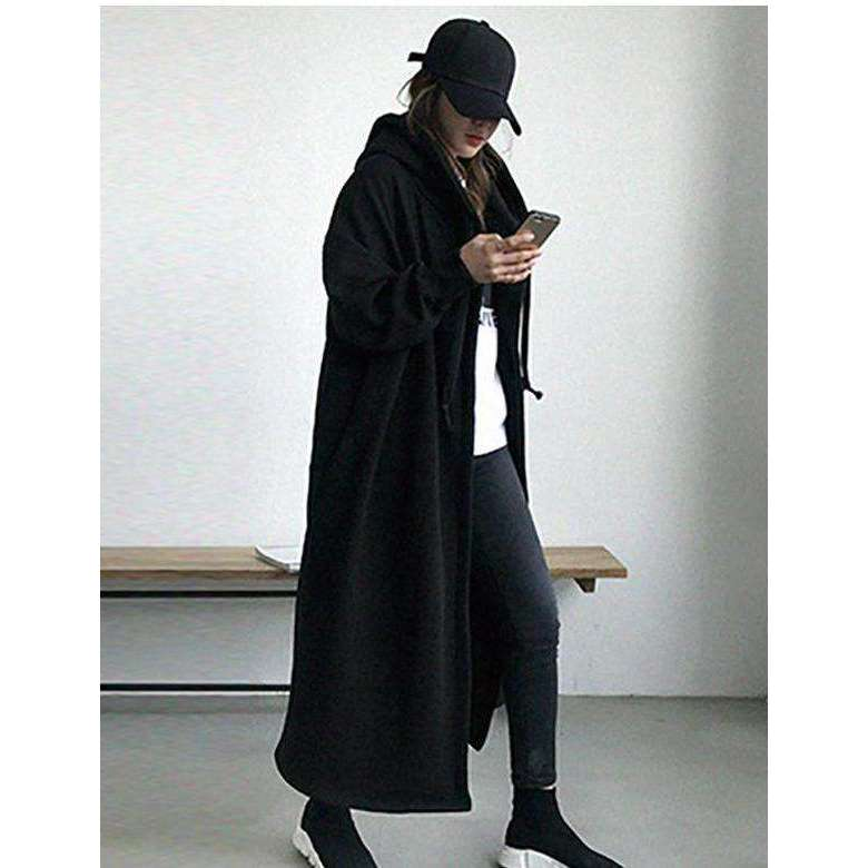 CLOCHE Vintage Hooded Windbreaker Coats-CLOCHE-CLOCHE