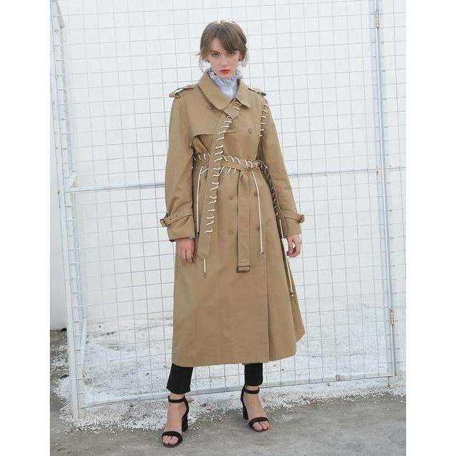 CLOCHE Trench Bandage Split Coats-CLOCHE-CLOCHE