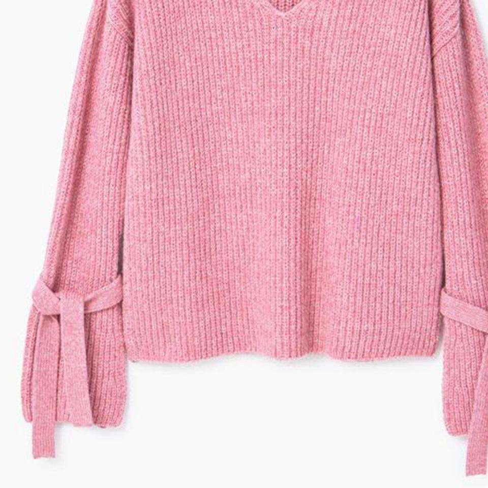 CLOCHE V-Neck Loose Knitwear Sweater-CLOCHE-ONE-CLOCHE