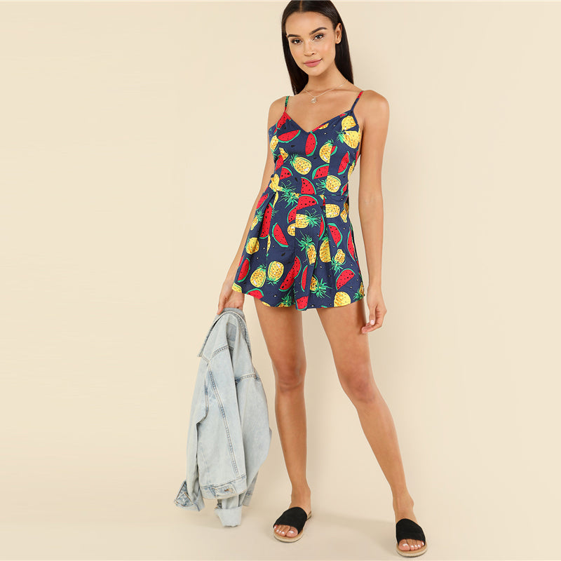 CLOCHE Beach Bohemian Party Tropicana Jumpsuit
