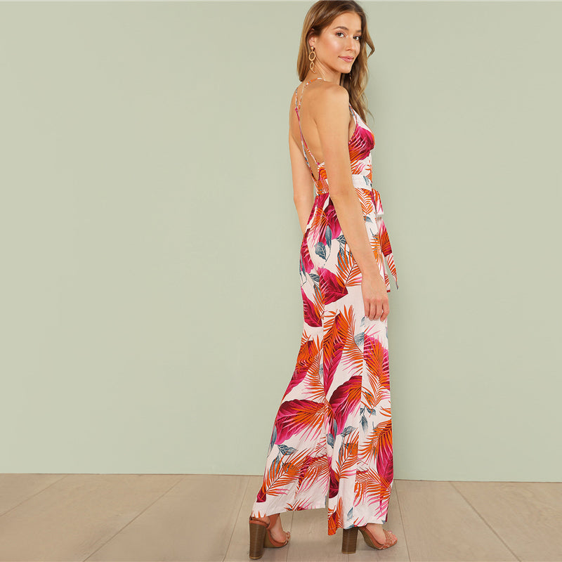 CLOCHE Multicolor Bohemian Cherry Perry Jumpsuit