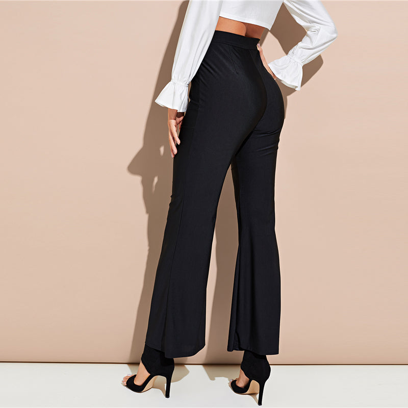 CLOCHE Flare Stretchy Trousers
