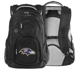 NFL Baltimore Ravens Denco Travel Backpack, Black
