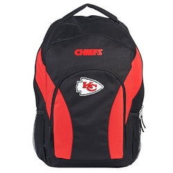 NFL Kansas City Chiefs DraftDay Backpack, 18-Inch, Black