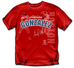 "Boston Red Sox MLB Adrian Gonzalez #28 Players Stitch"" Mens Tee (X Large)"""