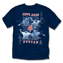 "Boston Red Sox MLB Four Aces"" Boys Tee (Navy) (Large)"""