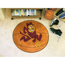 "Arizona State Sun Devils NCAA Basketball"" Round Floor Mat (29"")"""