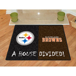 "Pittsburgh Steelers/Cleveland Browns NFL House Divided NFL All-Star"" Floor Mat (34""x45"")"""