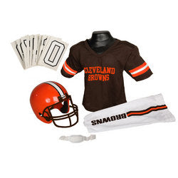 Cleveland Browns Youth NFL Deluxe Helmet and Uniform Set (Small)