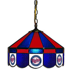 Minnesota Twins MLB 16 Inch Billiards Stained Glass Lamp