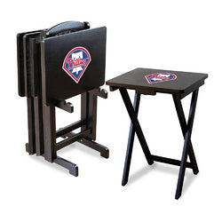 Philadelphia Phillies MLB TV Tray Set with Rack