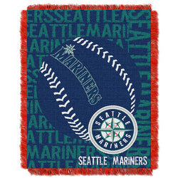 "Seattle Mariners MLB Triple Woven Jacquard Throw (Double Play) (48x60"")"""