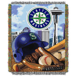 "Seattle Mariners MLB Woven Tapestry Throw (Home Field Advantage) (48x60"")"""
