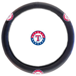 "Texas Rangers MLB Steering Wheel Cover (14.5 to 15.5"")"""