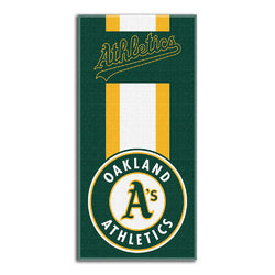 Oakland Athletics MLB Zone Read Cotton Beach Towel (30in x 60in)